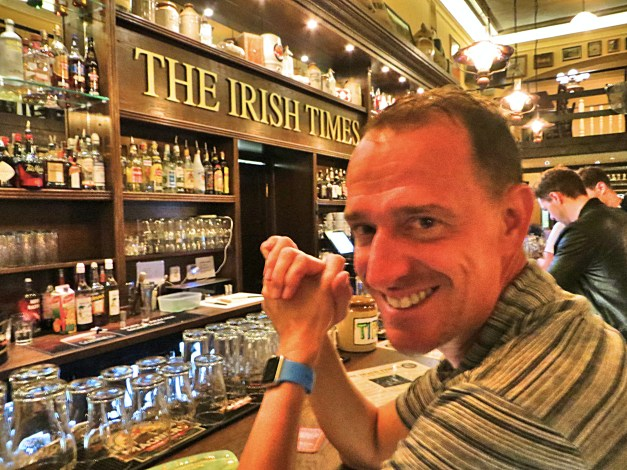 On our first night in Prague we somehow ended up in an Irish bar. Good cheap food, fun live music and we had a great time. I mean, who wouldn't in an Irish bar with a Sullivan?