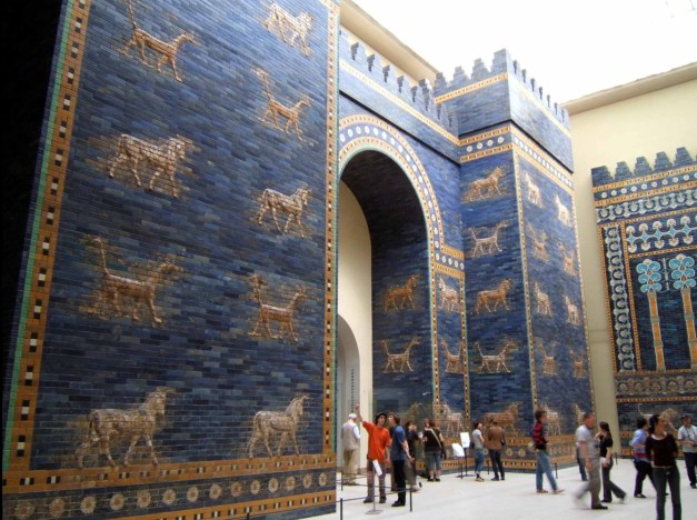 Babylon's fabulous Gates of Ishtar from the Pergamon Museum (photo shamelessly copied from Wikipedia)