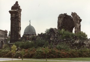 The ruins of the Frauenkirche from Mark's trip to Dresden in 1984