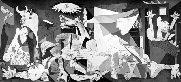 This photo can't possibly do Guernica justice. And it's worth pointing out that the piece is massive: over 11 feet high and over 25 feet wide. Powerful stuff.