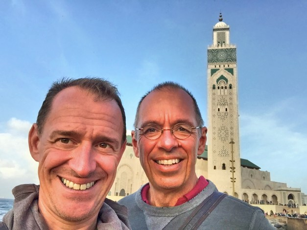 Mark and me in front of the mosque