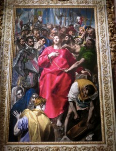 """The Disrobing of Christ"" in the sacristy of Toledo's Cathedral"