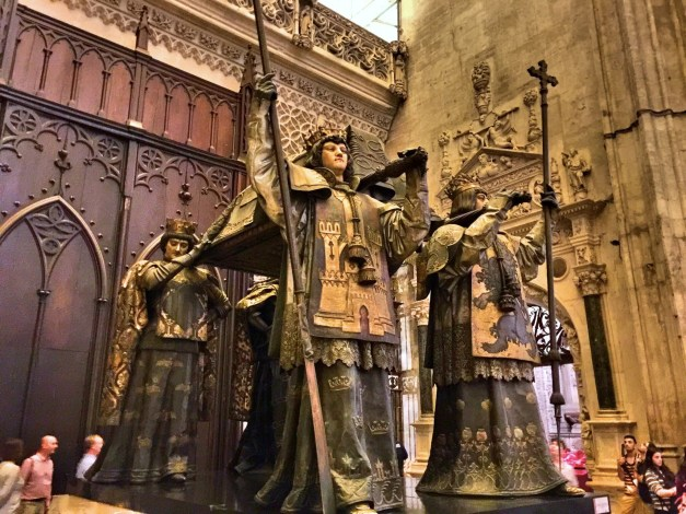 There he is, or what's left of him: Christopher Columbus's tomb in the Seville Cathedral