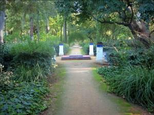 One of countless gentle walkways in Maria Luisa Park