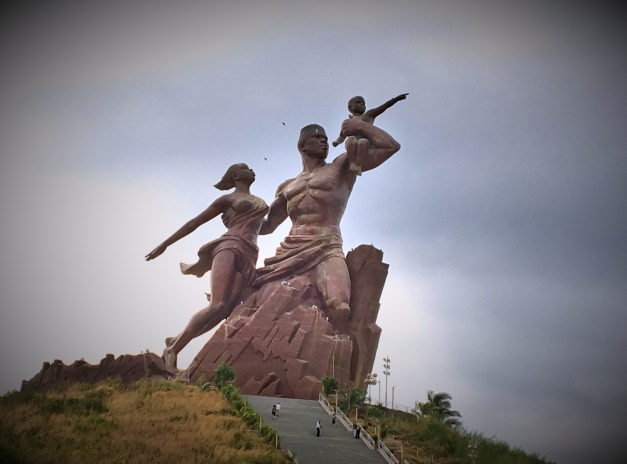The huge and somewhat unworldly African Renaissance Monument