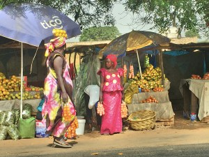 Traffic sometimes grinds to a halt but there are always people - often beautiful people - ready to sell you local produce