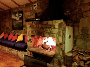 "Our blissful ""private"" fireplace, perfect for listening to our own music and sipping scotch"