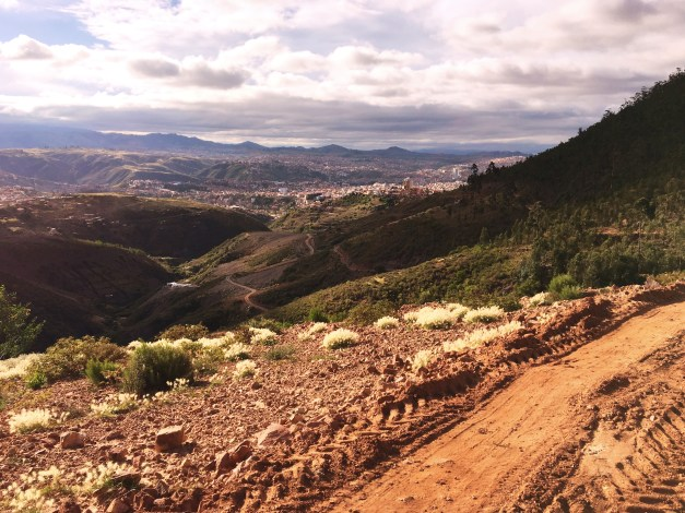 And finally, a view of Sucre, set in its valley, as I was coming back into the city