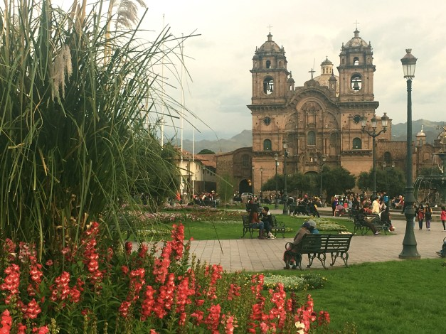 Another shot from the Plaza de Armas with the baroque facade of the Jesuit church in the background