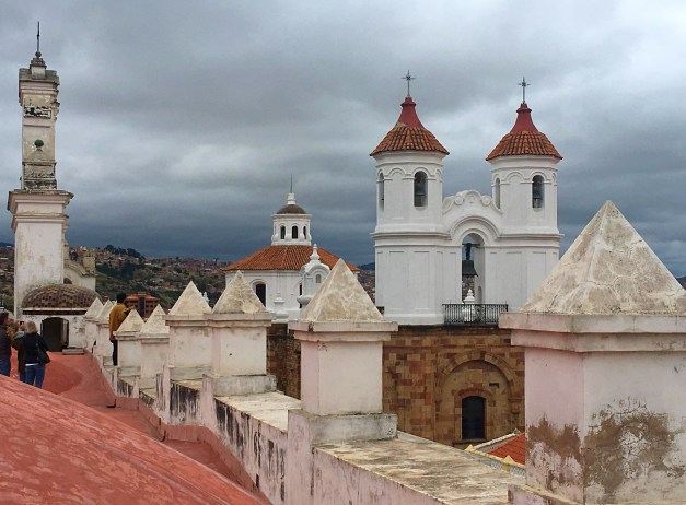 There was an old church across the street from our hotel with great views from the rooftop