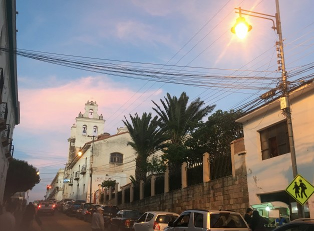 Sucre at sunset. No question, at times it was a beautiful city.
