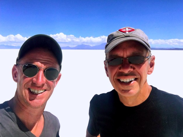 Here we are out in the middle of a vast, flat field of salt