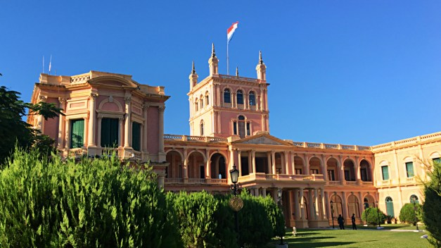 And now back to more prosaic topics. This is the Palacio de los López, the Paraguayan presidential palace.