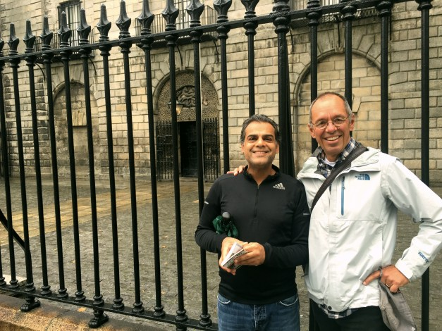 Ajay & I outside the Kilmainham Gaol