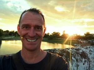 Mark on the Tiberius Bridge at sunset