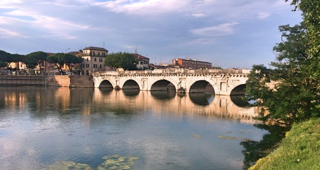 The 2,000-year-old Tiberius Bridge in Rimini is still a functioning bridge carrying both pedestrians and cars
