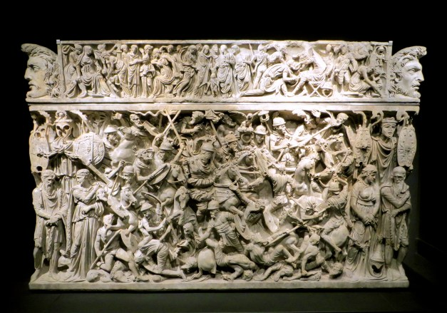 Arguably the most ornate sarcophagus I've ever seen. Note that in the middle there is a face that's unfinished. That was left to display the person who ultimately was going to buy and pay for it.