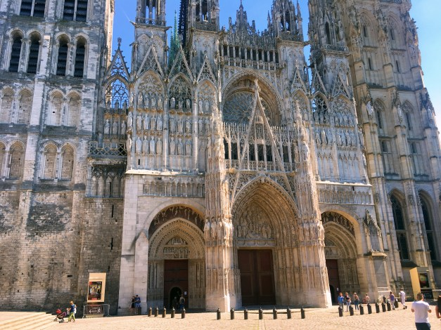 The glorious facade of Rouen's Notre Dame Cathedral