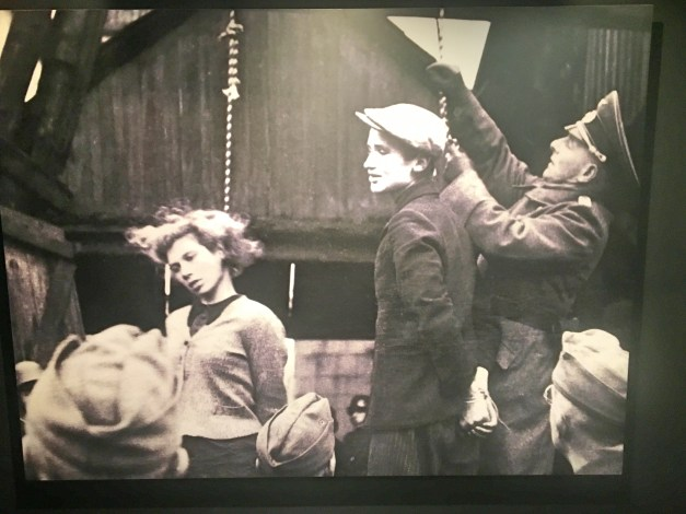 This striking photo of Germans hanging young Soviet resisters was a powerful piece of propaganda for the Soviets, showing how evil the Germans were and how brave the resisters were. What they didn't reveal until 1996 was that the woman killed here was Jewish. I mean, how could you make a Jew an heroic figure?