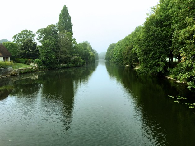 The peaceful Orne river running through Caen