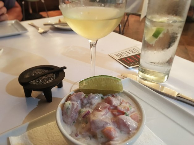 Oka is a classic Samoan dish similar to ceviche but made with coconut milk. It can range from good to really, really good, but is always better with a glass of crisp New Zealand wine.