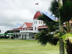The Royal Palace sits in the center of Nuku'alofa