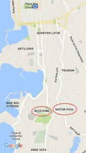 When you look at a map of Noumea you see districts with names like Receiving and Motor Pool, strange names for a Francophone city. Given it's history as HQ for the U.S. Military during WWII, though, I guess it makes sense.