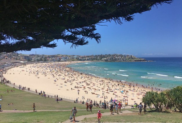 The world-famous Bondi Beach on Christmas Day