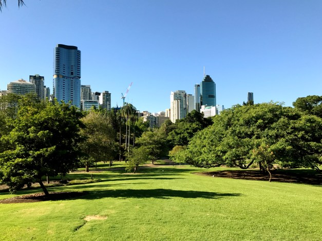 I was surprised after we'd left Brisbane how few photos we had of the city's beauty. This shot from the Botanical Gardens will have to suffice.