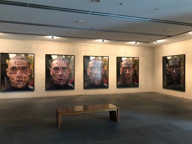 A broader shot of the various pieces in the Zhang Huan exhibit. You had to see them.