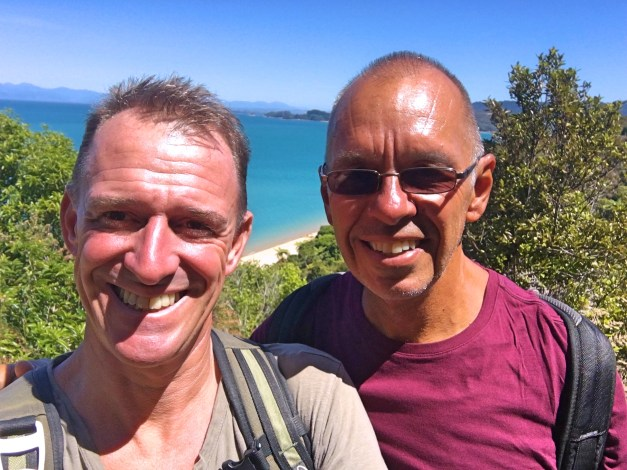 The great weather in Nelson made hiking measurably better than it had been on the North Island. Here we are on the Abel Tasman Coast Track, one of New Zealand's greatest Great Walk.