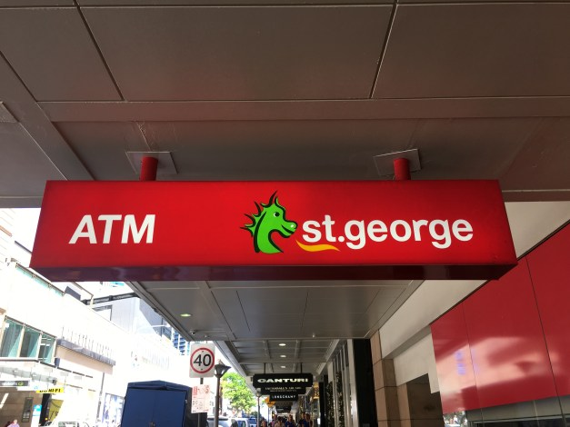 Imagine my surprise to learn that one of the major banks in Brisbane is St. George Bank. For once I could use my name on a restaurant reservation and people would immediately recognize it.