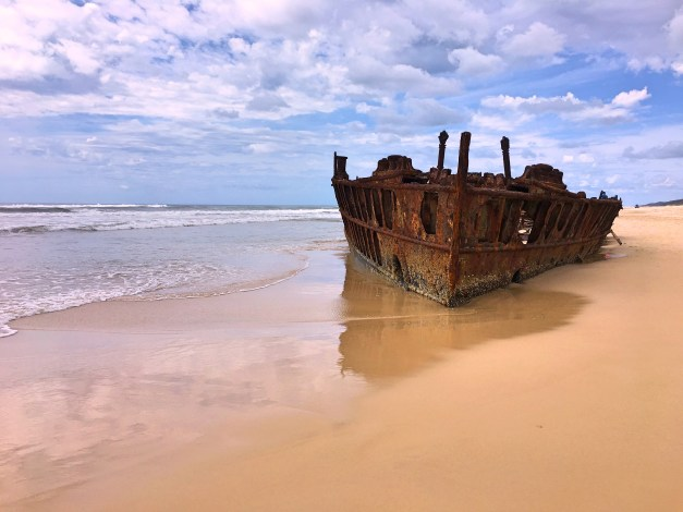Originally a turn-of-the-century luxury liner, the S.S. Maven was being towed to Osaka in 1935 to be broken up when instead it was caught in a storm and blown ashore on Fraser Island. The remains make for a scenic little tourist destination on the island.