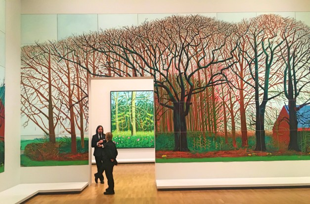 Just a small part of the Hockney exhibit