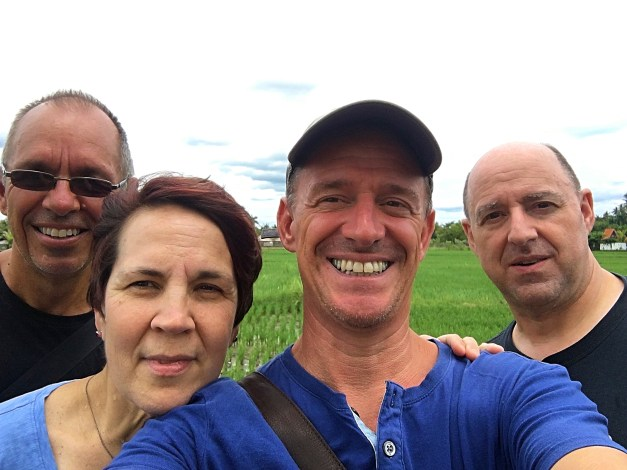 And one last shot of us with Jenny & Pat walking home through the rice fields