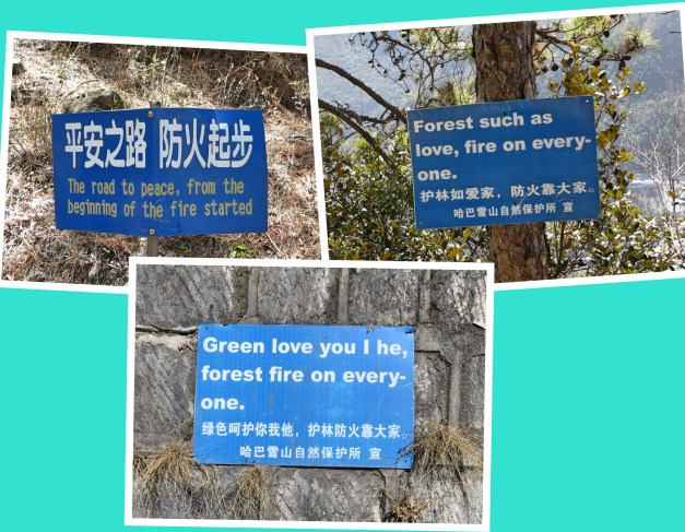 There were lots of signs along the way. In many cases the translation was presumably lacking.