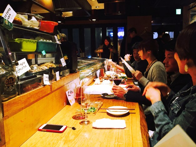 Typical of the places we found to eat at in Roppongi - tiny, crowded, and with a great atmosphere