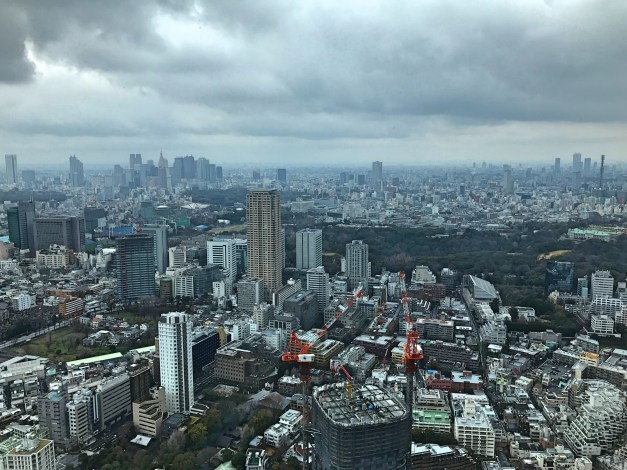 The view of Tokyo from our 51st floor room