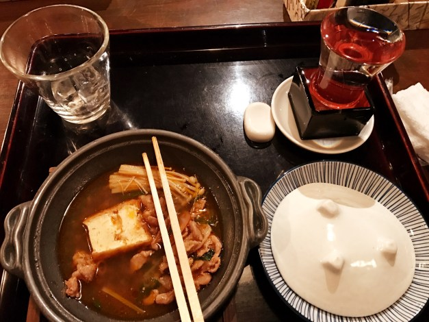 More great food. That glass in the upper right is sake and at this place - we've seen it before, but not for a while - they fill the glass and then keep pouring until the box is full and even the saucer below it. Makes for a very healthy cup of sake.
