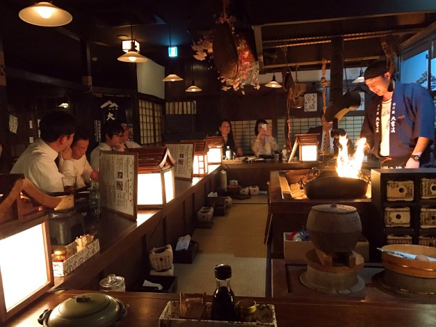 We love these little restaurants where most people are just sitting around the bar watching the chefs throw together these amazing dishes