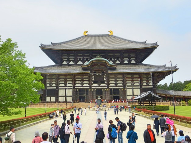 Nara's massive Todai-ji temple. The picture can barely suggest the scale of the building; walking through the gates to this sight was breathtaking.