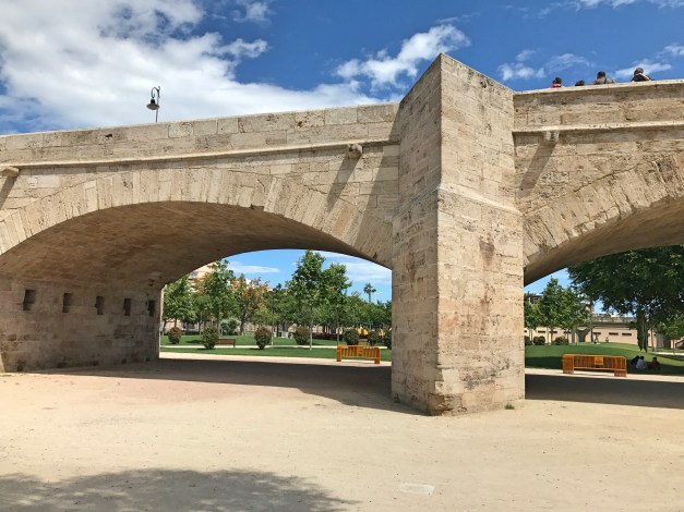 A 16th century bridge spanning what was once the Turia River. All these bridges mean that for miles of parkland runners, walkers, and bikers never have to contend with traffic. It's remarkable.