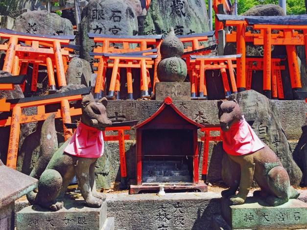 One of countless shrines in   Fushimi Inari-Taisha