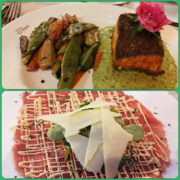 Alcúdia had some nice restaurants, including these Italian dishes at the Osteria el Patio