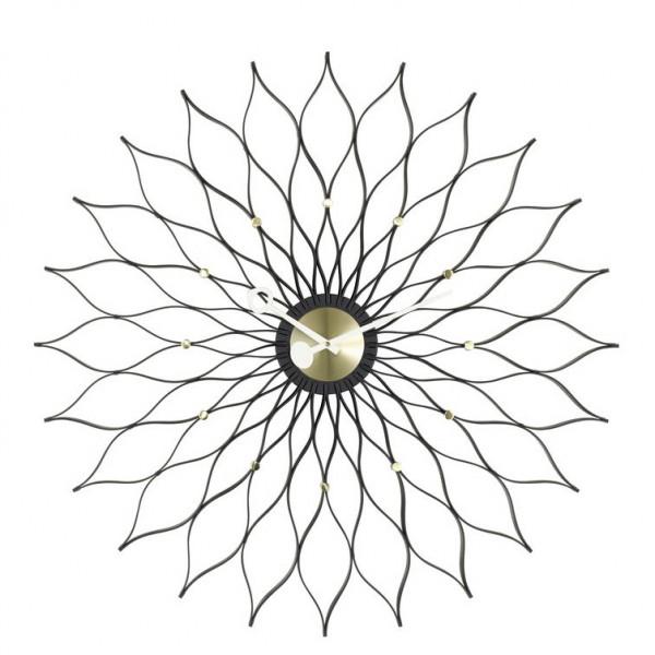 Sunflower Clock Messing von George Nelson I Vitra Wall