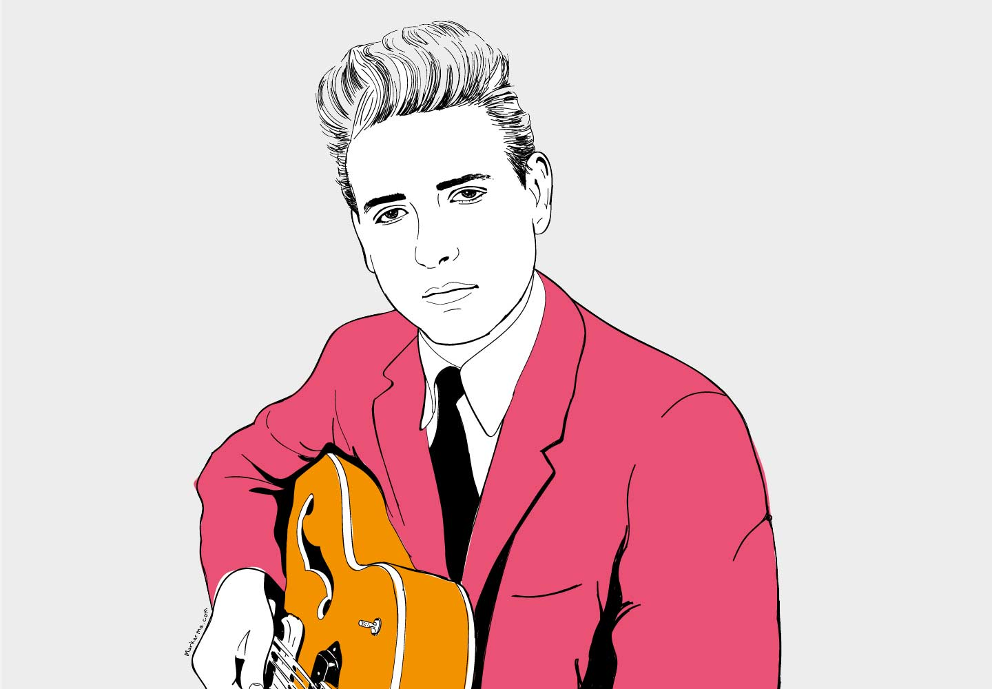 Eddie Cochran Illustration