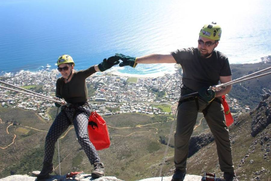 Abseiling from Table Mountain in Cape Town