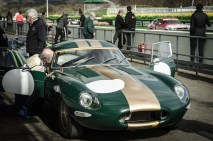Jaguar e-type in the Pits