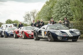 Ford GT40s Waiting to Parade