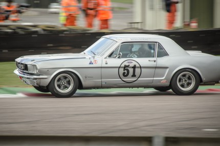 Ford Mustang in the Thruxton Chicane